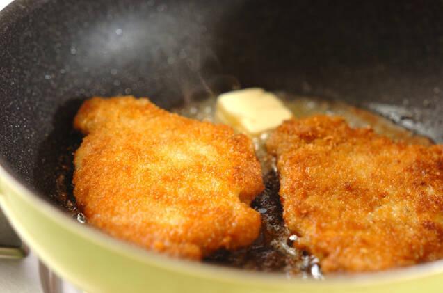 チーズ風味のポークカツの作り方の手順5