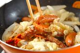 ソーセージとキャベツの粒マスタード煮の作り方2