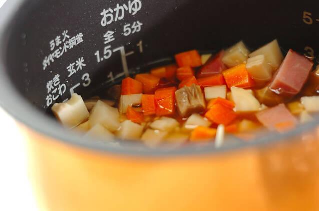 ちまき風炊き込みご飯の作り方の手順6