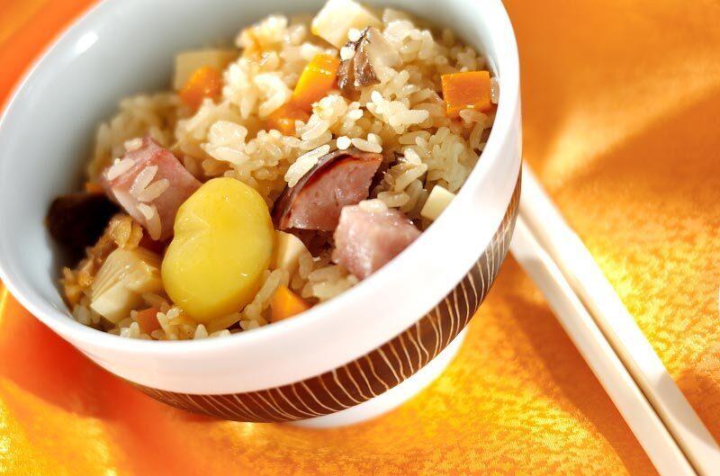 3.ちまき風炊き込みご飯