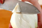 新玉ネギの梅肉和えの作り方1