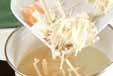 春雨と野菜のスープの作り方1