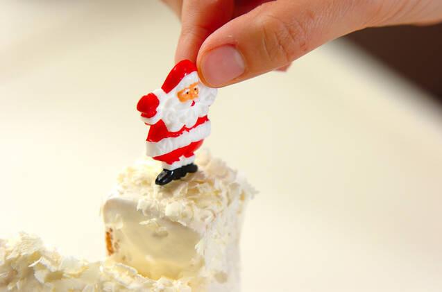 クリスマスサンタのお家ケーキの作り方の手順8