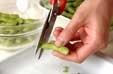 ゆで枝豆の下準備1