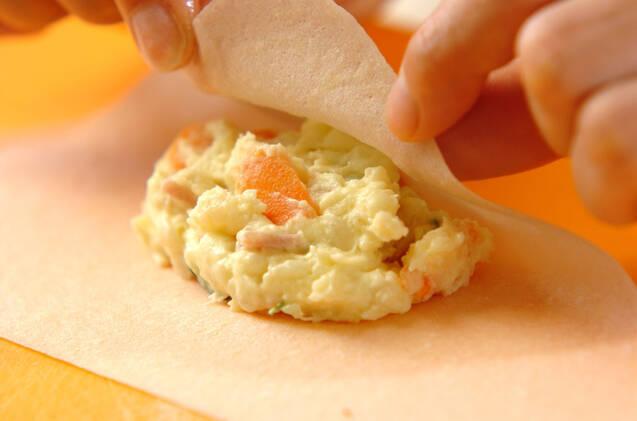 ポテサラ春巻きの作り方の手順1