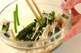 青菜のお浸しの作り方1