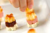 あんことクリームチーズの桜パイの作り方3
