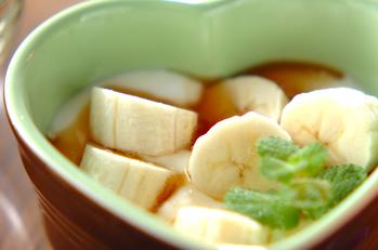 メープルバナナヨーグルト