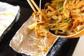モヤシと鮭のホイル焼きの作り方2
