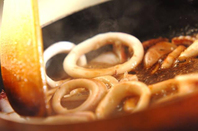 イカの甘辛炒めの作り方の手順3