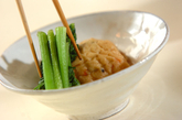 ひりょうずと青菜の炊き合わせの作り方2