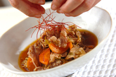 牛肉とモヤシのスープ煮の作り方2