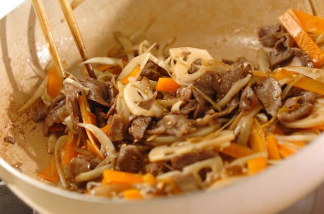 牛肉入り根菜のきんぴらの作り方の手順6