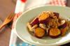 サツマイモと豚肉の炒め物の作り方の手順