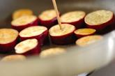 サツマイモと豚肉の炒め物の作り方2