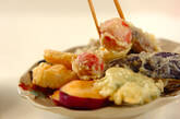 いろいろ野菜の天ぷらの作り方12