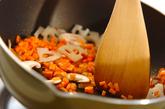 アジの干物でオムライスの作り方1