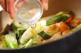 キュウリとエビのサッと炒めの作り方2
