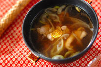 鶏と白ネギのスープ