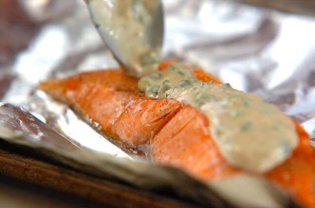 鮭の洋風みそ焼きの作り方の手順2