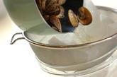 アサリ入り茶碗蒸しの下準備1