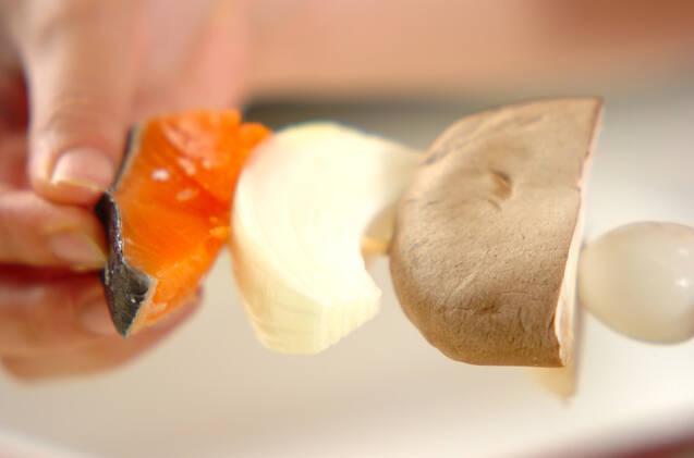 鮭串カツの作り方の手順2