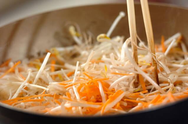 モヤシの卵焼きの作り方の手順4