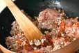 米ナスの肉みそがけの作り方2
