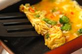 カニ風味カマボコ入りだし巻き卵の作り方1