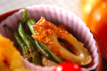 インゲンとちくわの炒め煮