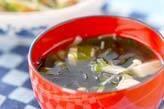 エノキとワカメのスープ