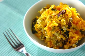 カボチャとお豆のヨーグルトサラダ