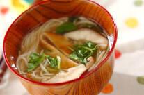 素麺のすまし汁