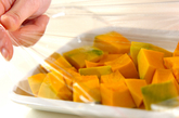 クミン風味パンプキンサラダの下準備1