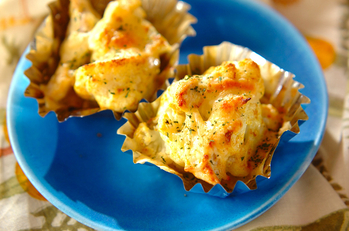 カリフラワーのカップチーズ焼き