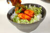 エビキムチチリ丼の作り方の手順3