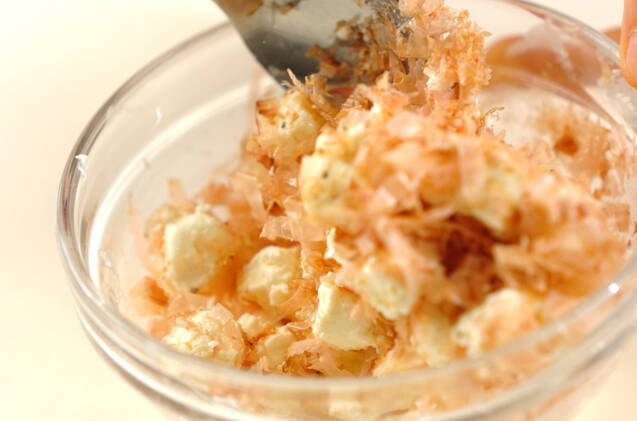 クリームチーズのおかか和えの作り方の手順2