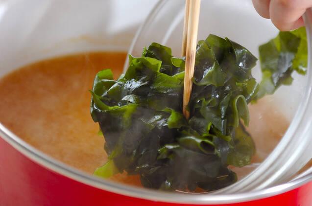 タケノコのみそ汁の作り方の手順5