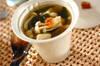 ホワイトシメジとワカメのスープ