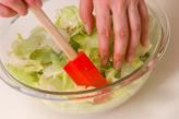 レタスとバジルのサラダの作り方1