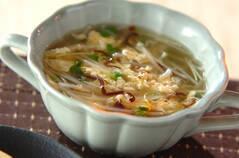 モヤシのふんわり卵スープ