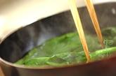 ホウレン草とベーコンの炒め物の作り方2