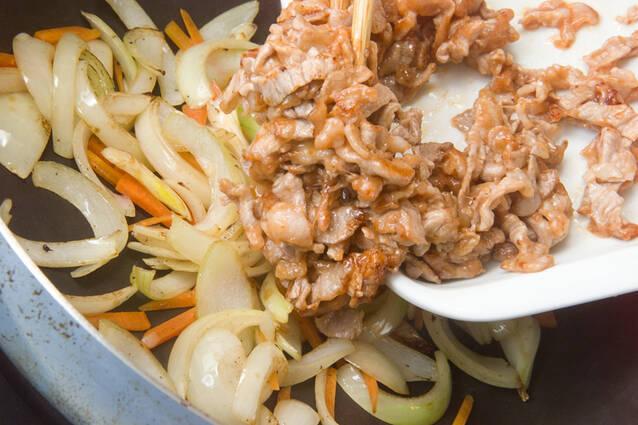 豚肉のケチャップ炒めの作り方の手順3