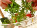 スモークサーモンのサラダの作り方3