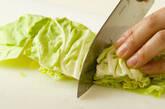 春キャベツの粒マスタード和えの作り方1
