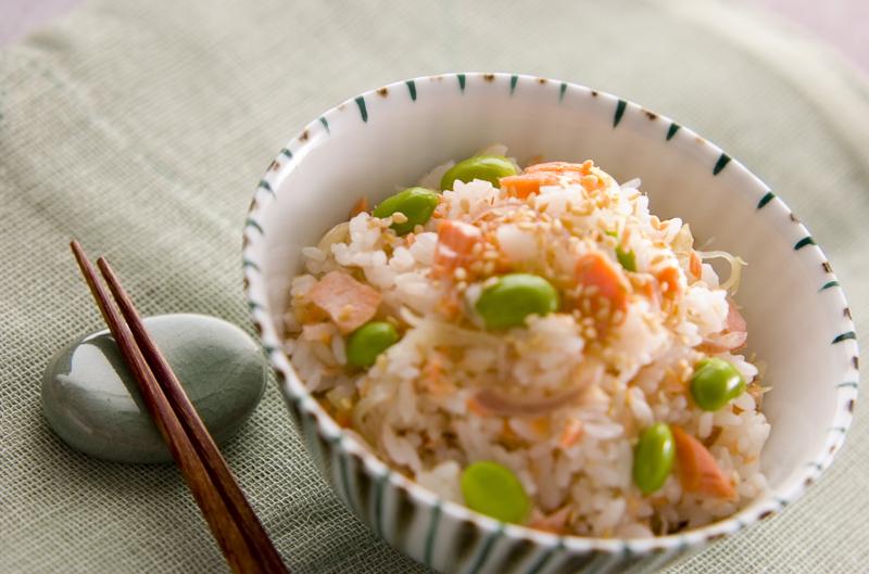 4.ミョウガの混ぜご飯