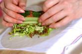 エビ卵焼き生春巻きの作り方5