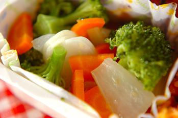 蒸し野菜のユズ風味