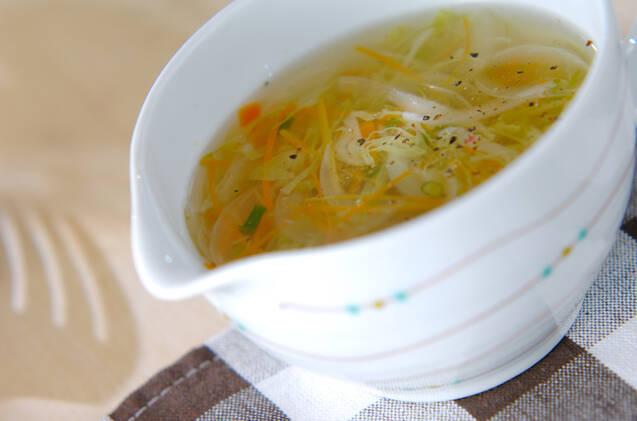 細切り野菜スープ