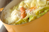 ソーセージと春キャベツのスープ煮の作り方1